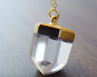 SALE Vanilla Quartz gold Necklace