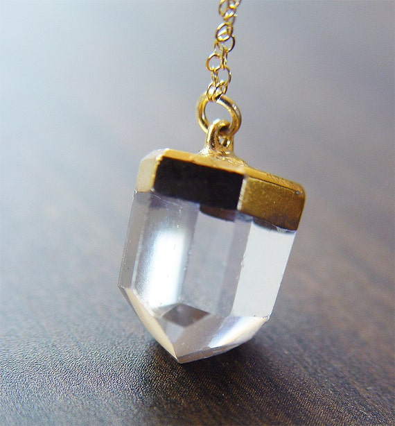 Vanilla Quartz gold Necklace