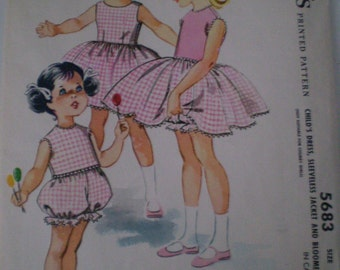 1960 McCall's Pattern for toddler girl dress - Size 6 No. 5683