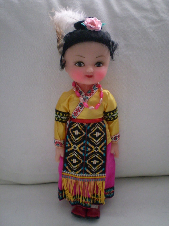 Sale Vintage Chinese Folk Doll In Box