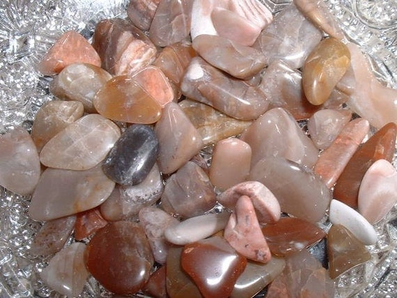 Agate Tumbled and Polished Mostly Pinkish Newfoundland Natural Gemstones