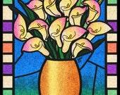 Glitter Bouquet of Calla Lilies