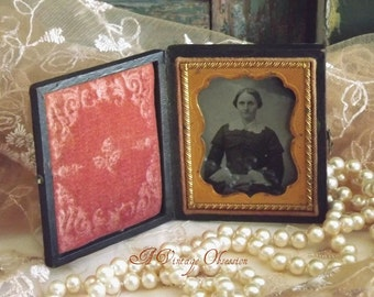 Antique American Civil War Era Ambrotype Photo by avintageobsession on etsy