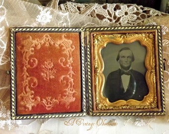 Antique American Civil War Era Ambrotype Photograph by avintageobsession on etsy