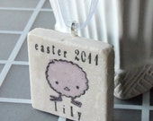 Personalized Chick Easter Ornament - Easter Gift - Keepsake - For Kids