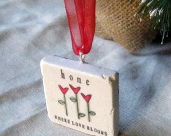 Love Blooms Christmas Ornament - Christmas Gift