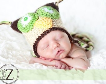 Customize a Crazy Owl Hat - Newborn to Child Sizes - Any Colors