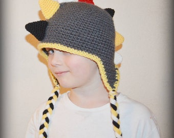 Dino Hat - Newborn to Child Sizes - Any Colors