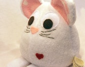 White Mouse - Whee One - Stuffed Animal - White Stuffed Toy - Plushie