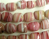 Vintage Japanese Glass in Swirled Rasberry and White 12x10