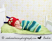 Caterpillar Photo Prop Newborn Baby Costume, Baby Halloween Costume, Baby Shower Gift
