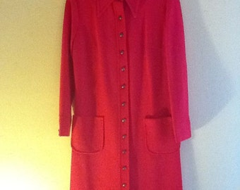 Vintage Sixties Red Dress