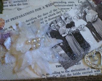 Vintage Embellished  Wedding Keepsake Box