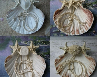 Bespoke Seashell Ring Pillow - Custom Seashell Ring Bearer's Pillow