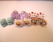 Adventure Time Earrings Set of All 5