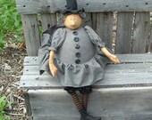 Hester Prynne Primitive Folk Art  Witch Instant dowload pattern HAFAIR HAGUILD OFG faap