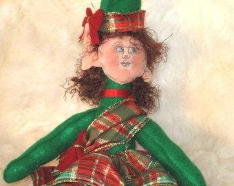 Scottish Elf Hand Painted Folk Art