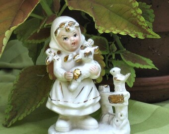 Girl with a Lamb Figurine Napco Sale