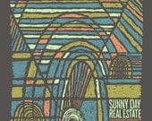 Sunny Day Real Estate screen printed gig poster