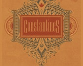 Constantines limited edition handmade screen printed gigposter