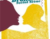 Brooken Social Scene limited edition handmade screen printed gig poster