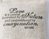Voltaire Quote Lavender Sachet, Inspirational Urban Farmhouse Industrial Decor