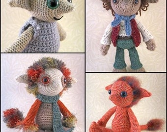 Little Folk Amigurumi Pattern PDF - Elf, Fairy, Sprite Crochet Pattern