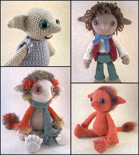 Amigurumi Fairy Pattern : Little Folk Amigurumi Pattern PDF Elf Fairy Sprite Crochet