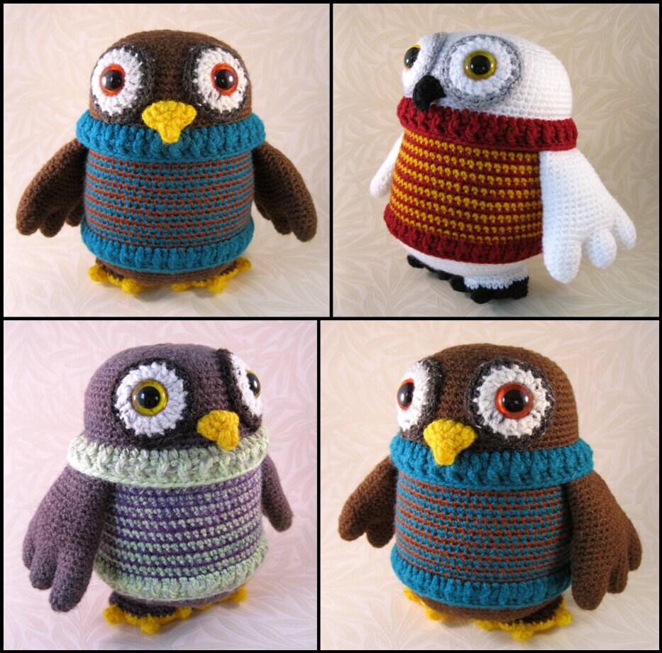 Amigurumi Owl Wings : Flappy Owl Amigurumi Pattern PDF