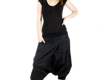 "harem pants woman black, black pants, pants ninja cool ""PSYCHOSE"""