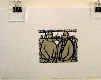 Woodblock relief printmaking The Associates