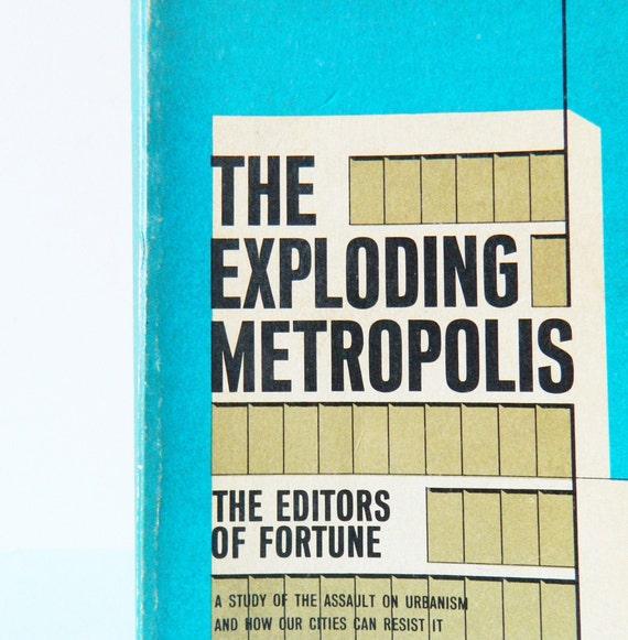 1950s Vintage Urban Studies Book / Vintage Typography / Mid Century Urbanism Paperback / Collectible Book