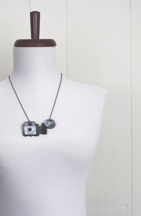 Wooden Camera Necklace Brownie Starlet / SAMPLE SALE