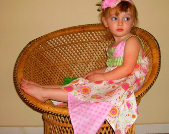 Huge Sale ... Girls Handkerchief Dress PDF Sewing Pattern Tutorial