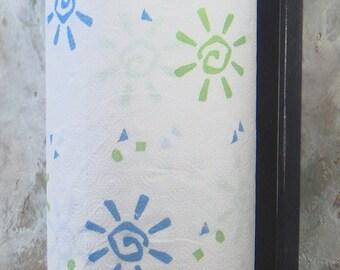 Satin black Vertical mount wood paper towel holder