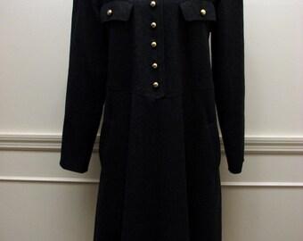 Vintage Wool Swing Dress by Harve Bernard Size 10