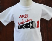 Boys Pirate Themed Spyglass Birthday Shirt