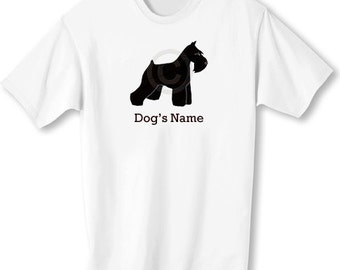 Miniature Schnauzer Personalized T-Shirt with Dog's Name