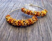 Earrings - Golden Hotness - Bright Orange, Pumpkin, Gold