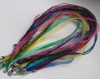 10- 18 in Ribbon Cord Pendant holders Mixed colors