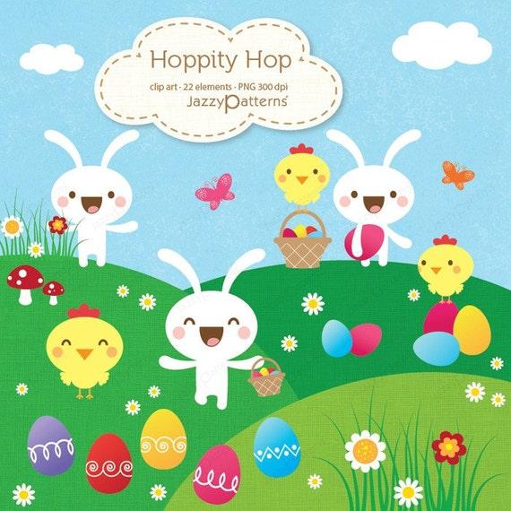 Easter clip art set Hoppity Hop (CA019)