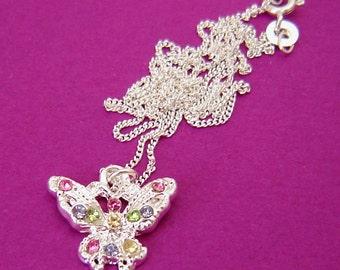 Butterfly Pendant, Sterling Silver