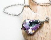 indigo dreams necklace. ornately cut, multi-faceted Swarovski crystal