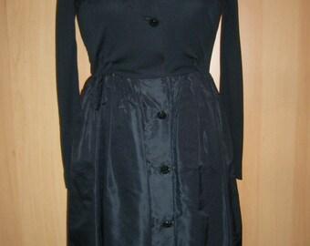 Fabuluous 50's-60s Black Cocktail Dress MAD MEN STYLE, Sz 34-36