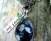 Photo Picture Locket Necklace Daughter Mother Bridesmaids Wedding
