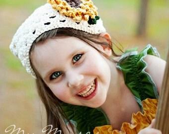 Sunflower Kerchief, Child/Adult Sizes