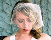 Double layer Tulle and Russian netting birdcage veil headband