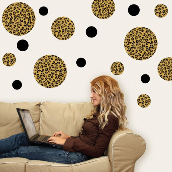 Leopard Print Dots Wall Decals Repositionable