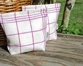 Large Vintage Linen Tea Towel  Lunch-Sandwich-Storage  Bag Lined