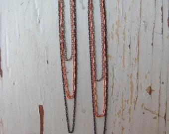 Mixed Metal Drape Earrings